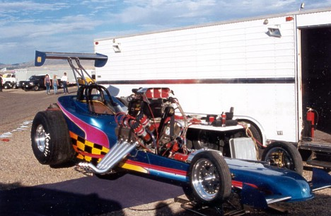 Leon Ruddock in the Pits at Albuquerque, 2000. Photo by Charlene Ruddock