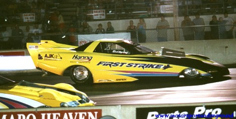 Rich Hanna's First Strike is the most dominant Jet Funny Car of the past few years. James Morgan photo