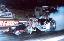 Ron Fassl dominated Fuel Altered racing in 2000. Photo thanks to Scott Fortin