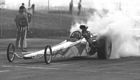 The FIRST successful rear engine dragster -- the Kaiser Bros. Photo by Pete Garramone