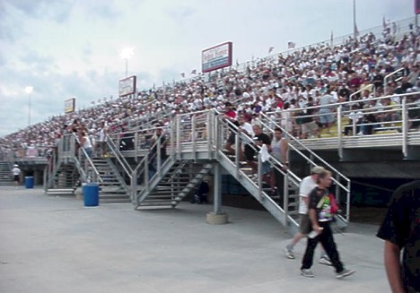 The stands were packed at Bill Bader's immaculate Norwalk Raceway Park for the 2000 IHRA World Nationals. Photo by Bill Pratt