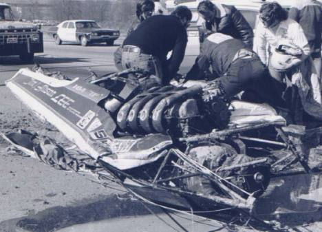 Jim & Alison Lee's car after being flattened by the American Way (JW Last)