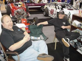 Rick and Matt Stambaugh hangin' at the World of Wheels.