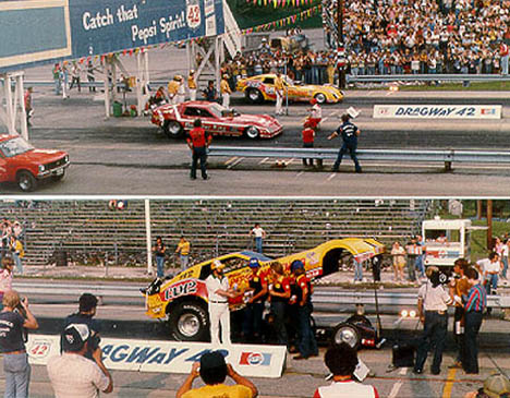 Don Prudhomme defeated Kenny Bernstein in the Funny Car final. Photo by Rick Howard
