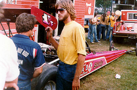 Shirley's son John Muldowney in the pits. Photo by Rick Howard