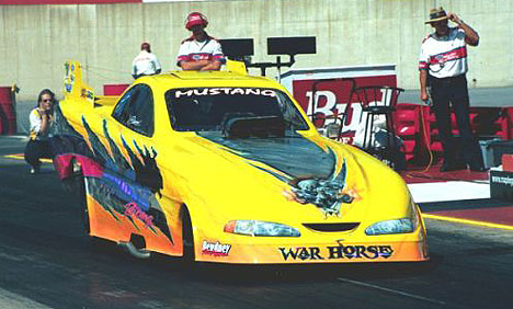 Bruce Mullins has the War Horse FMFC solidly in the 5.80s, but will that be enough in NHRA Division 1? Photo by Greg Gage