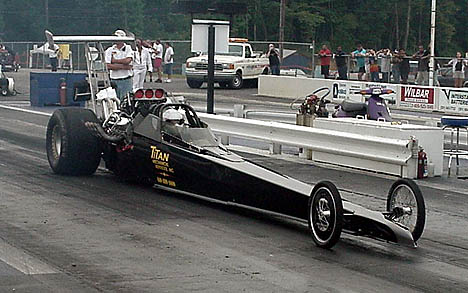 Dan Dietrich's new new blown Chevy entry went 6.60s, but didn't make the Frantic Four field. Photo by Tim Pratt