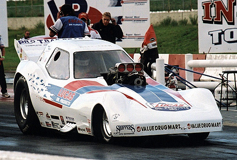 Edmonton's Darrell Webb is the tough guy of the circuit with his '81 Corvette. Photo by Sandy J