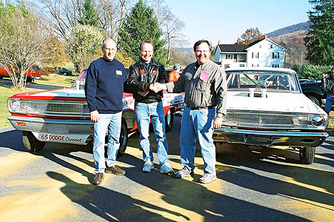 Here are the guys who work hard to bring us the USA-1 Dragfest every year, Dick Gerwer, Bruce Larson, and Dave Heisey. Photo by Greg Gage