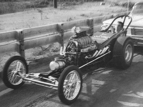 Joe Jacoco's Buick Lynwood dragster. Photo by Joe Monitzor