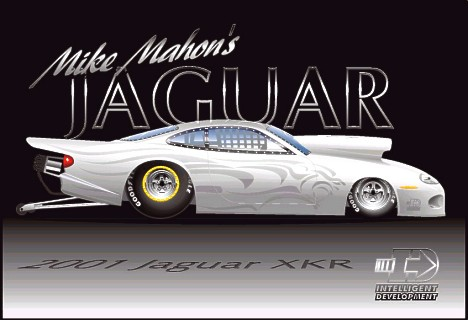Mike Mahon's Jaguar is ready to hit the strip for 2001