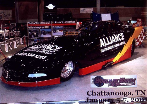 Mike and Jerami Preslar are ready to hit the strip for 2001 with their immaculate Corvette Funny Car. Photo thanks to Jerami Preslar