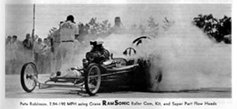 Pete Robinson's infamous jack start car. Photo from the Crane Cams catalog