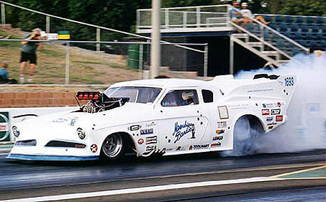 Robin Judd's Anderson-built Studebaker was the world's quickest for a time at 6.17. Photo by John Baremans
