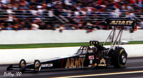 Ron was in the Zone when he got this photo of Tony Schumacher in late 2000. Photo by Ron Dilley