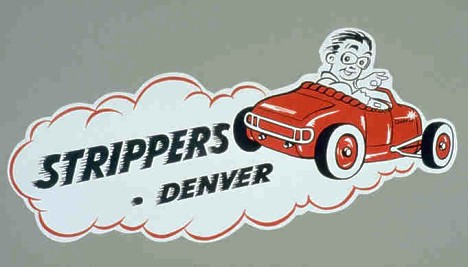 Strippers Car Club Decal. Scan by Pete Garramone