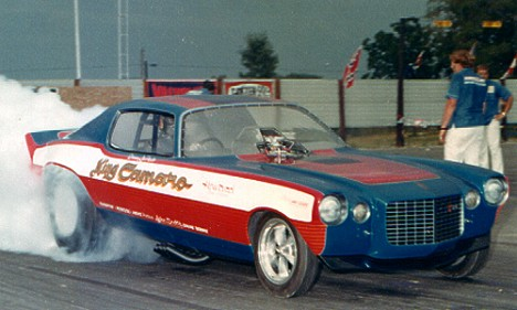 The mighty King Camaro -- 500 inches of rat spelled LOUD! Photo from the Drag Racing Memories Collection of Bob Plumer