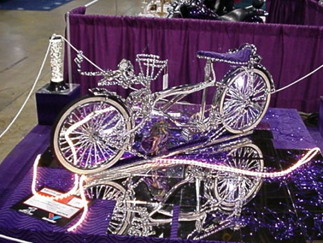 "Check out this bicycle. Looks like something out of Walt Disney's ""Cinderella."" Photo by Tim Pratt"