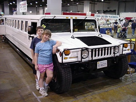 How about a Hummer limousine? Jason seems unimpressed in the photo, but he loved it! Photo by Tim Pratt