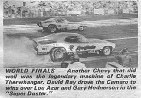 David Ray had his best NHRA outing at the 1971 World Finals. Photo from National Dragster