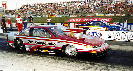 Don Campanello is on a very exclusive list -- winners of an NHRA Pro Stock event. Photo by Rob Potter