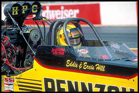 Eddie Hill at Gainesville in his most recent NHRA season. Photo by Brian Wood