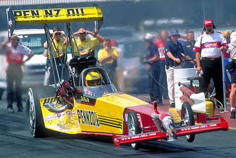 Eddie carried the American Eagle with him on his final NHRA tour. Photo by Brian Wood