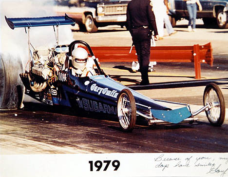 Gary at the 1979 NHRA Winternationals. Photographer unknown