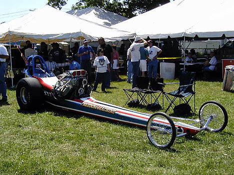 Here's the restored Freedom Machine at the 2001 Charlestown Dragway reunion. Photo thanks to Don Roberts
