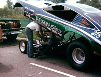 The Bluegrass Shaker  in the staging lanes at Indy '76. Photo by James Morgan