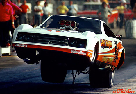 drag racing picture of the day gary burgin 39 s orange baron mustang funny car 1981. Black Bedroom Furniture Sets. Home Design Ideas