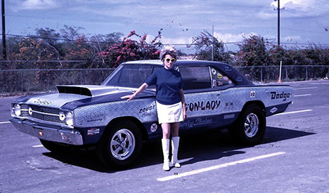 Shirley Shahan was one tough customer in her Drag On Lady series of race cars. Photo by George Waialeale