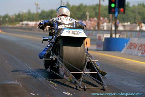 Nitro Harleys like Doug Vancil and his entry are one of the things James likes about IHRA Drag Racing. Photo by James Morgan