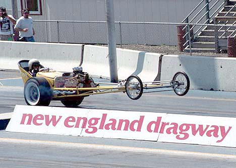 Ray Helger's flathead powered dragster at a NETO New England. Photo by Ed O'Connell