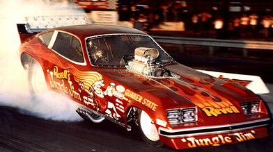 Jungle Jim Liberman and over 250 other flopper photos await you at 70s Funny Cars. Photo thanks to Drag Racing Memories