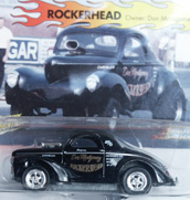 Don Montgomery's ROCKERHEAD Willys Gasser die cast -- close up.