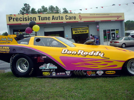 Don Roddy was runner up at Southern Dragway with his '93 Corvette. Photo by Bob Gettys