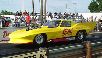 Keith Floyd's '63 Corvette Pro Mod is becoming a regular in the Draglist.com Southern Fuel Coupes winner's circle. SFC file photo