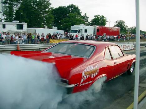Mike Coger's injected Nova gasser. Roger Richards photo
