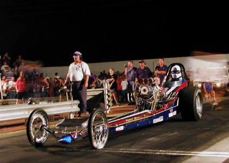 The Smokey Mountain Express was the quickest nostalgia dragster on hand. Brian Wood photo