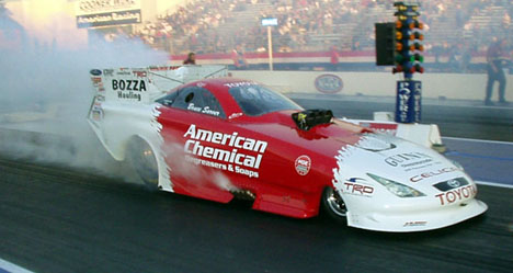 American Chemical now sponsors Alan Johnson's Toyota.