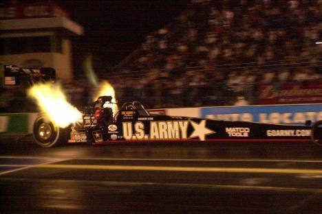 Tony Schumacher was not able to set a speed record this year...