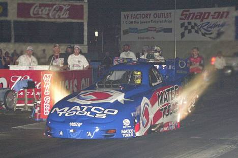 Whit Bazemore qualified Number one in Funny Car.