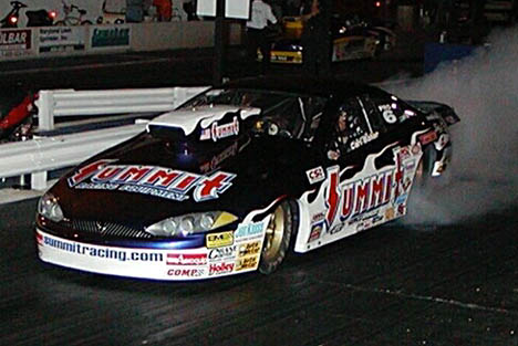 Carl Baker had the field covered by five hundreths all night in the Summit Racing Cougar. Photo by Stephen Hawes