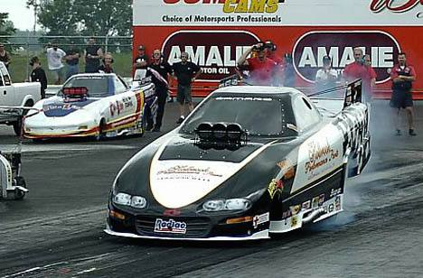 Dale Brand (left) took the top spot in Pro Funny Car, but Jimmy Rector (right) is not yet in the show. Photo by Vic Cooke
