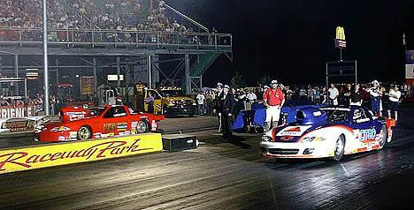 John Montecalvo and Doug Kirk met up in a rare all-GM final in the Sunoco Shootout. Photo by Vic Cooke