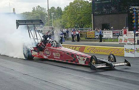 Louis Allison failed to make the tough Top Fuel show, but will return. Photo by Vic Cooke