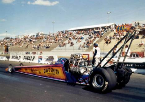 Alcohol Dragster track record holder and runner up, Mike Cofini. Photo by David Hapgood