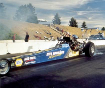 Alcohol Dragster winner Bill Edwards, Jr. Photo by David Hapgood