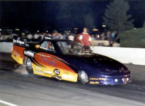 Alcohol Funny Car champ and track record breaker, Ken Kraus. Photo by Nolan Hibbard